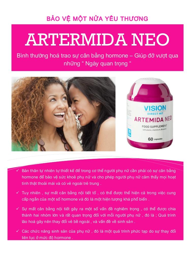 Tác dụng của Thực Phẩm Chức Năng Vision Artemida Neo