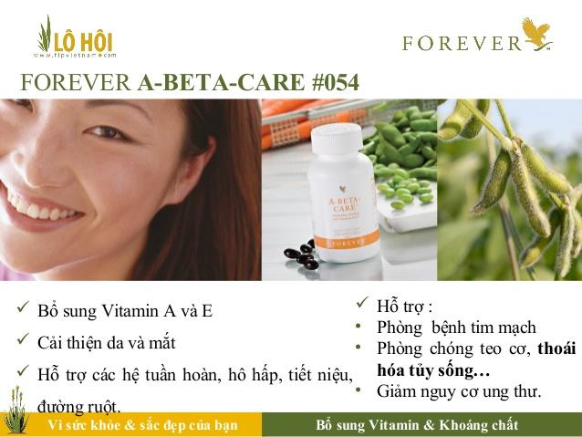 Thực phẩm chức năng Forever A-Beta-Care bổ sung đầy đủ vitamin A cho cơ thể