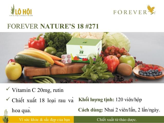 phẩm chức năng Forever Natures 18, cơ thể bạn đã có đủ 18 loại rau củ cần thiết