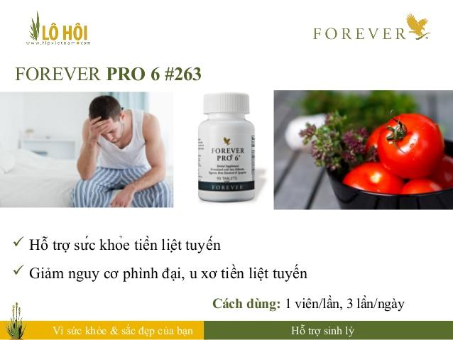 Thực phẩm chức năng Forever Pro 6 hỗ trợ điều trị u xơ tiền liệt tuyến cho nam giới