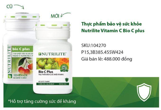 mẫu cũ và mới thực phẩm bảo vệ sức khỏe Vitamin C Amway Nutrilite Bio C Plus