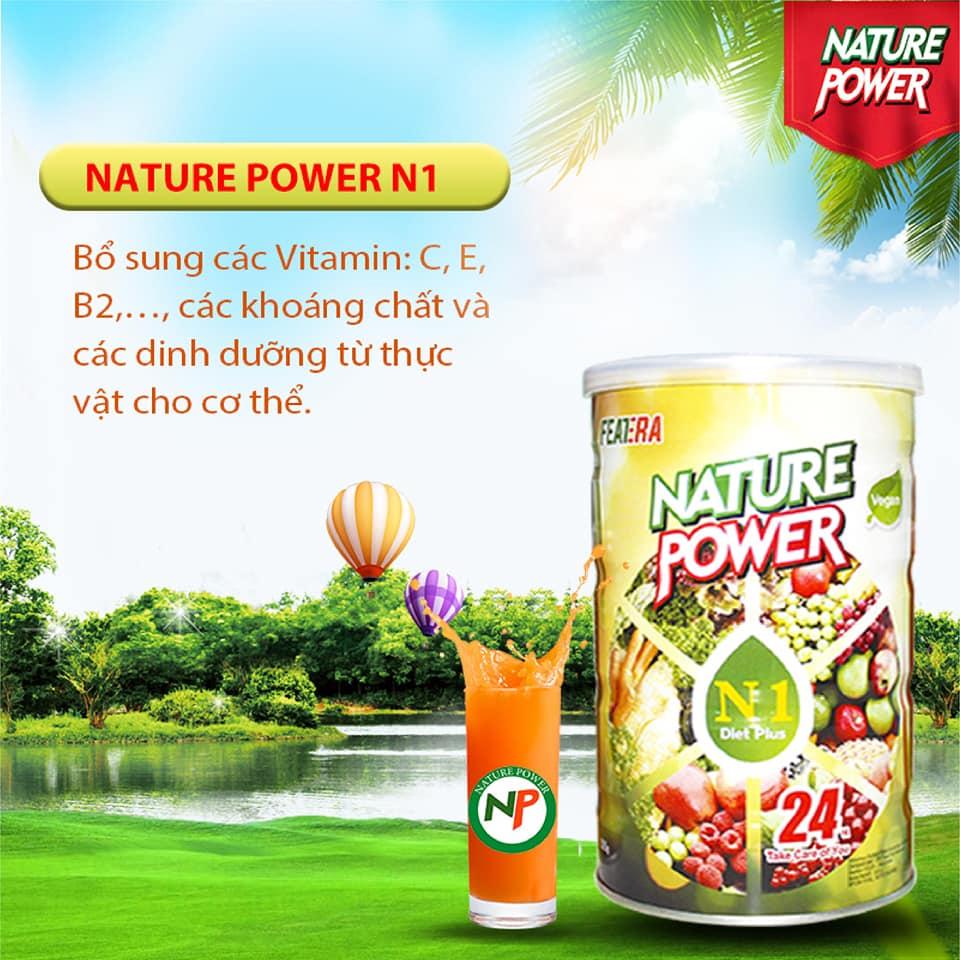 Nature Power N1 bổ sung các vitamin :C, E, B2,...., các khoáng chất và các dinh dưỡng từ thực vật
