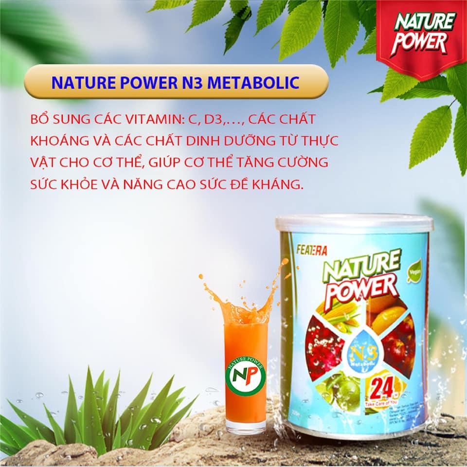 Nature Power N3 Metabolic bổ sung các vitamin : C, D3,...., các chất khoáng và các chất dinh dưỡng từ thực vật cho cơ thể, giúp cơ thể tăng cường sức khỏe và nâng cao sức đề kháng.