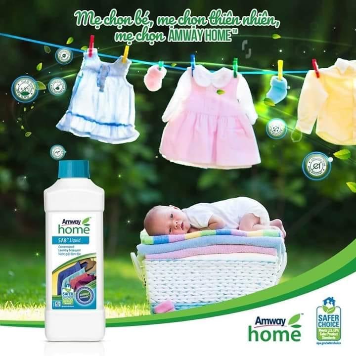 nước giặt đậm đặc Amway Home - SA8 an toàn với da em bé