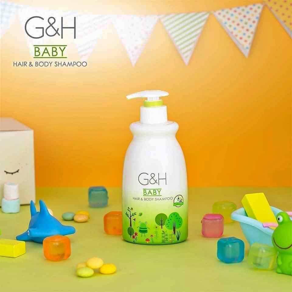 thành phần Sữa Tắm - Gội Em Bé Amway G&H Baby Hair & Body Shampoo 400 ml