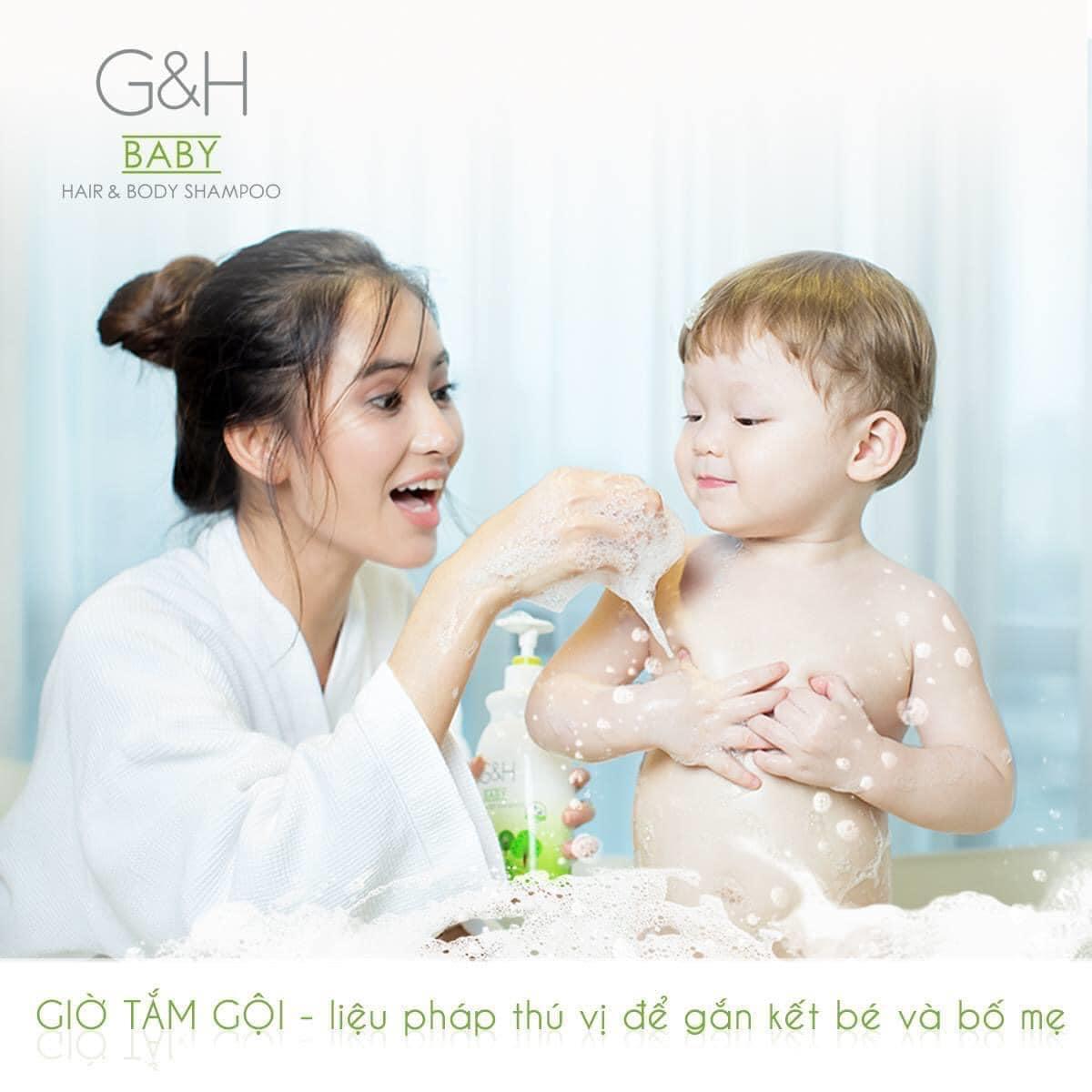 Sữa tắm gội em bé G&H Baby giúp bé tránh được các tình trạng khô da.