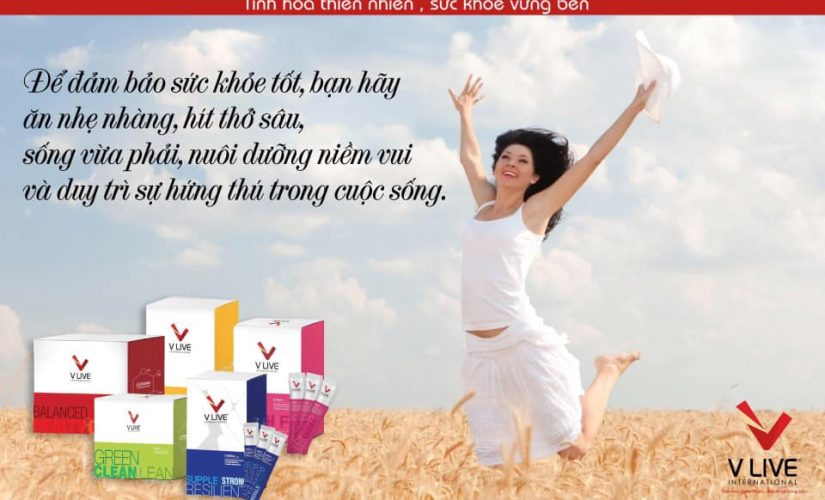 Thực Phẩm Bảo Vệ Sức Khỏe V Live International – V Trition + V Oxy+ và V Neral